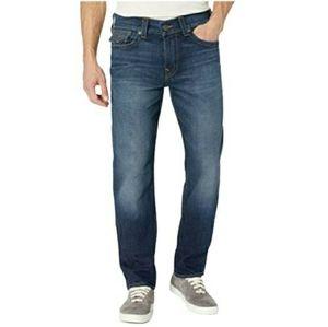 Mens True Religion Dark Wash Geno Slim Blue Jeans